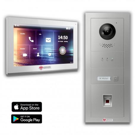 Komplettset Fingerprint 180°Weitwinkel inkl. 7 Zoll Monitor